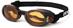 Doggles ILS with Racing Flames Frame / Orange Lens