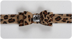 Cheetah Big Bow Collars