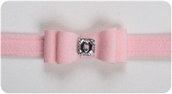 Puppy Pink Big Bow Collars
