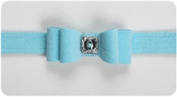 Tiffi Blue Big Bow Collars