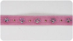 Red Crystal Paw Print Collars