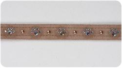Fawn Crystal Paw Print Collars