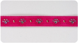 Wine 'n Roses Crystal Paw Print Collars