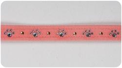 Peaches 'n Cream Crystal Paw Print Collars
