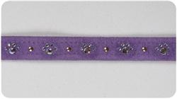 Ultraviolet Crystal Paw Print Collars