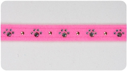 Perfect Pink Crystal Paw Print Collars