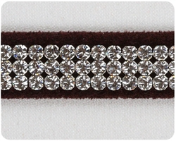 Chocolate Giltmore Crystal II Collars