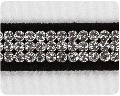 Black 3 Row Giltmore Collar