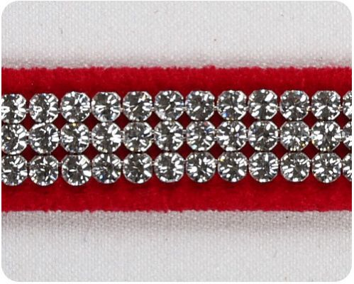 Red 3 Row Giltmore Collar