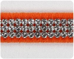 Orange 3 Row Giltmore Collar