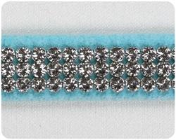 Tiffi Blue 3 Row Giltmore Collar