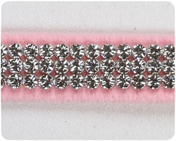 Puppy Pink 3 Row Giltmore Crystal Collars