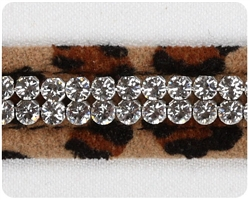 Cheetah Couture 2 Row Giltmore Collar