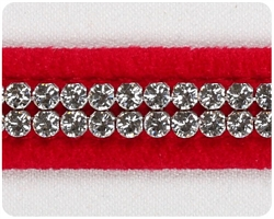 Red 2 Row Giltmore Crystal Collars