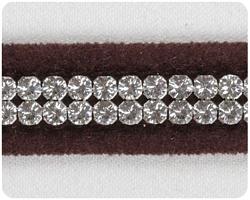 Chocolate 2 Row Giltmore Collar