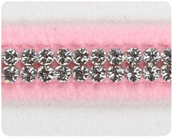 Puppy Pink Giltmore Crystal Collars
