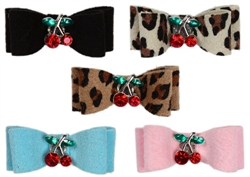 Metal Cherries Hair Bows