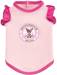 First Pooch Ruffle Tank by Ruff Ruff Couture®