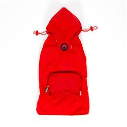 Red Pocket Fold Up Raincoat