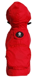 Red Skull Pocket Fold Up Raincoat