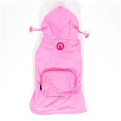 Light Pink Pocket Fold Up Raincoat