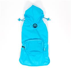 Light Blue Pocket Fold Up Raincoat