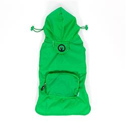 Green Pocket Fold up Raincoat