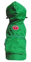 Kelly Green Cherry Pocket Fold up Raincoat
