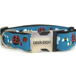 Lady Bugs & Bumble Bees Dog Collar - Clearance
