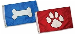 Paws Aboard Red Paw Flag, Blue Bone or Pirate Flag