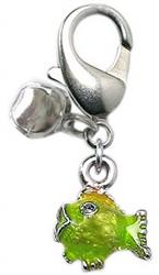 Lulu Lime Fish Charm