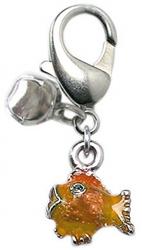 Lulu Tangerine Fish Charm