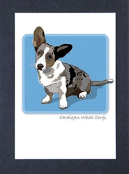 Welsh Corgi, Cardigan - Grrreen Boxed Note Cards