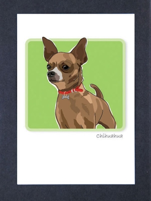 Chihuahua, Brown - Grrreen Boxed Note Cards