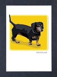 Dachshund, Black - Grrreen Boxed Note Cards