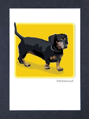 Dachshund, Black - Grrreen Boxed Note Cards