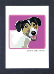 Jack Russell Terrier, Tri - Grrreen Boxed Note Cards
