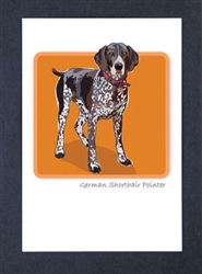 German Shorthair Pointer - Grrreen Boxed Note Cards