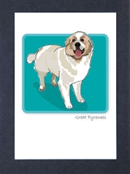 Great Pyrenees - Grrreen Boxed Note Cards