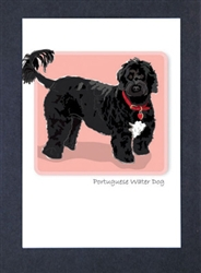 Portuguese Water Dog - Grrreen Boxed Note Cards