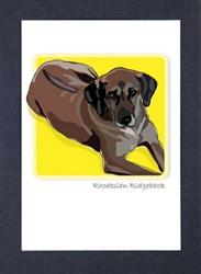 Rhodesian Ridgeback - Grrreen Boxed Note Cards