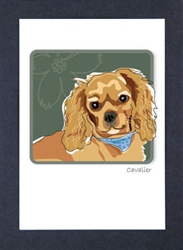 Cavalier, Ruby - Grrreen Boxed Note Cards