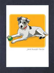 Jack Russell Terrier - Wire Coat - Grrreen Boxed Note Cards