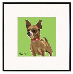 Framed Print: Chihuahua - Brown