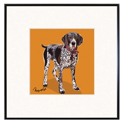 Framed Print: German Shorthair Pointer print