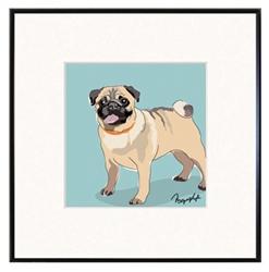 Framed Print: Pug - Standing