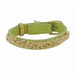 Beaded Yellow Jade & Picture Jasper Collars & Leashes