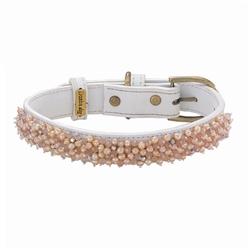 Beaded Pearl & Rose Quartz Collar & Leash