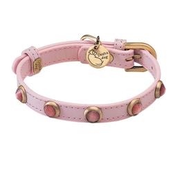 Pebbies Collar & Leash - Light Pink/Cat Eye