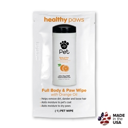 Body & Paw Pet Wipes - Foilpack - Healthy Paws